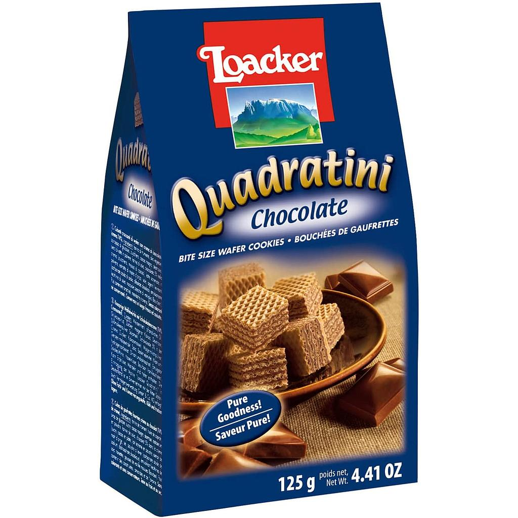 BISCOITO AUS LOACKER QUADRATINI CHOCOLATE 125G